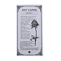 TIMETRIES クリエイティブ単純な人生のテーマ破れた紙メモ帳パッドワードブック携帯プラン,スタイル6