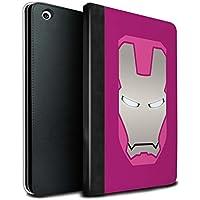 stuff4PU Book/カバーケースfor Apple iPad Mini 1/ 2/ 3タブレット/レッド/ゴールドロボット/ Super Heroヘルメット MR-IPM-TSBS-MD-IRNMAN-PKSV