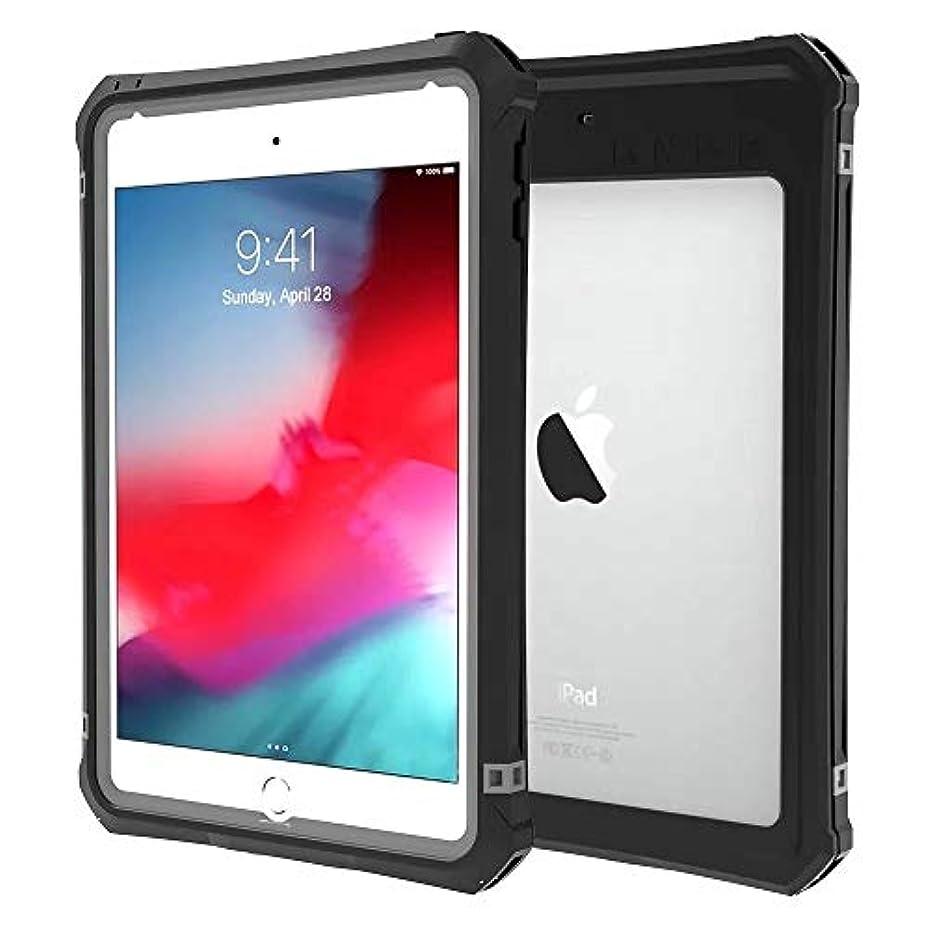 体のどコンプリートiPad mini5 防水ケース IP68防水認証 指紋認証対応 防水 耐震 防塵 耐衝撃 水中撮影 フルプロテクションカバー ケース (iPad mini5, ブラック)