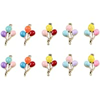 EXCEART 10PCS Balloon Charm Jewelry Making Pendants Alloy Coloful Beads Charms DIY Accessories for Crafting Bracelet Necklace Earrings