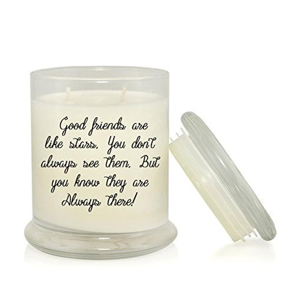 傑出した警察引き渡すGood Friends Are Like Stars 8.5 oz. Soy Candle - Long-Distance Friendship Gift - Very Vanilla Scented [並行輸入品]