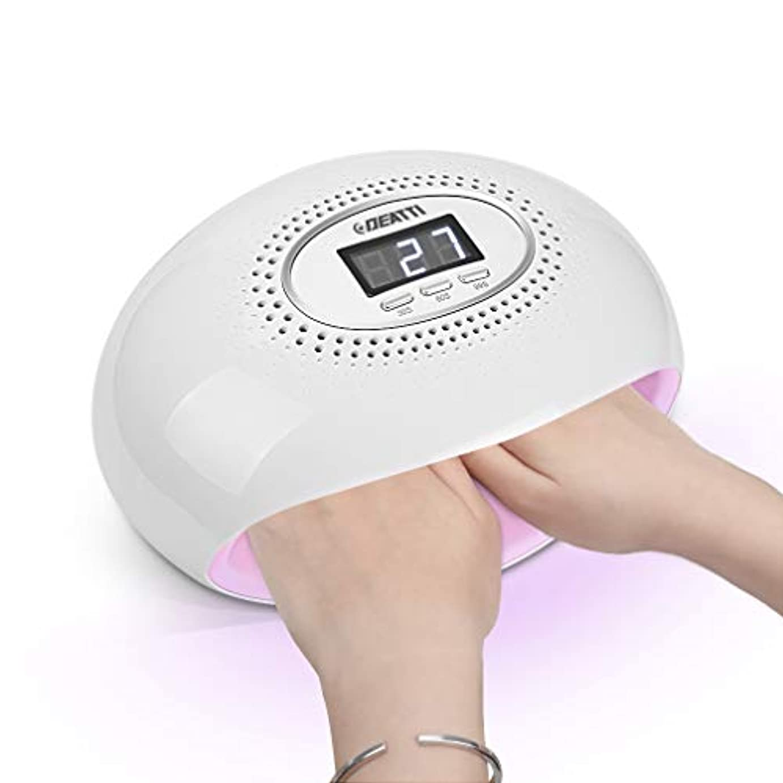 サンダーなんとなく木UVライト ネイルドライヤー 54W レジン用 LEDネイルランプ ジェルネイル 自動センサー タイマー設定