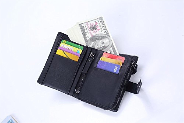 財布 メンズウォレット ショート レザー ハンドバッグ ジッパー 垂直 三つ折り財布