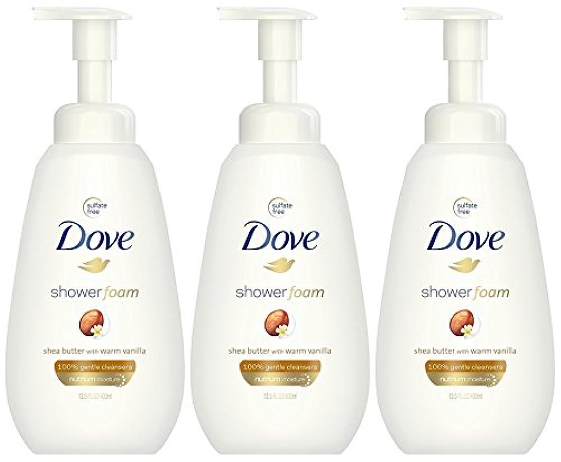 広告脊椎ストレスの多いDove ウォームバニラフォーミングボディーウォッシュで泡シアバターシャワー、13.5オンス(3パック)