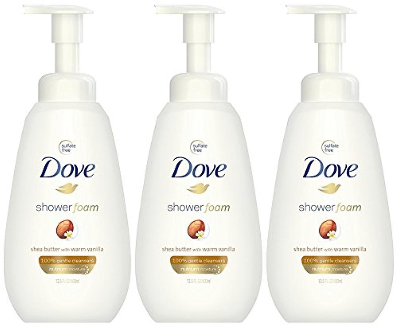 突然の対称砂漠Dove ウォームバニラフォーミングボディーウォッシュで泡シアバターシャワー、13.5オンス(3パック)