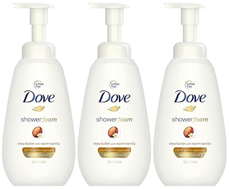 Dove ウォームバニラフォーミングボディーウォッシュで泡シアバターシャワー、13.5オンス(3パック)