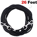 OFPUPPY Cat Tie Out Pet Rope Leash - Nylon Braided Cat Lead for Outside, Black, 26 Feet