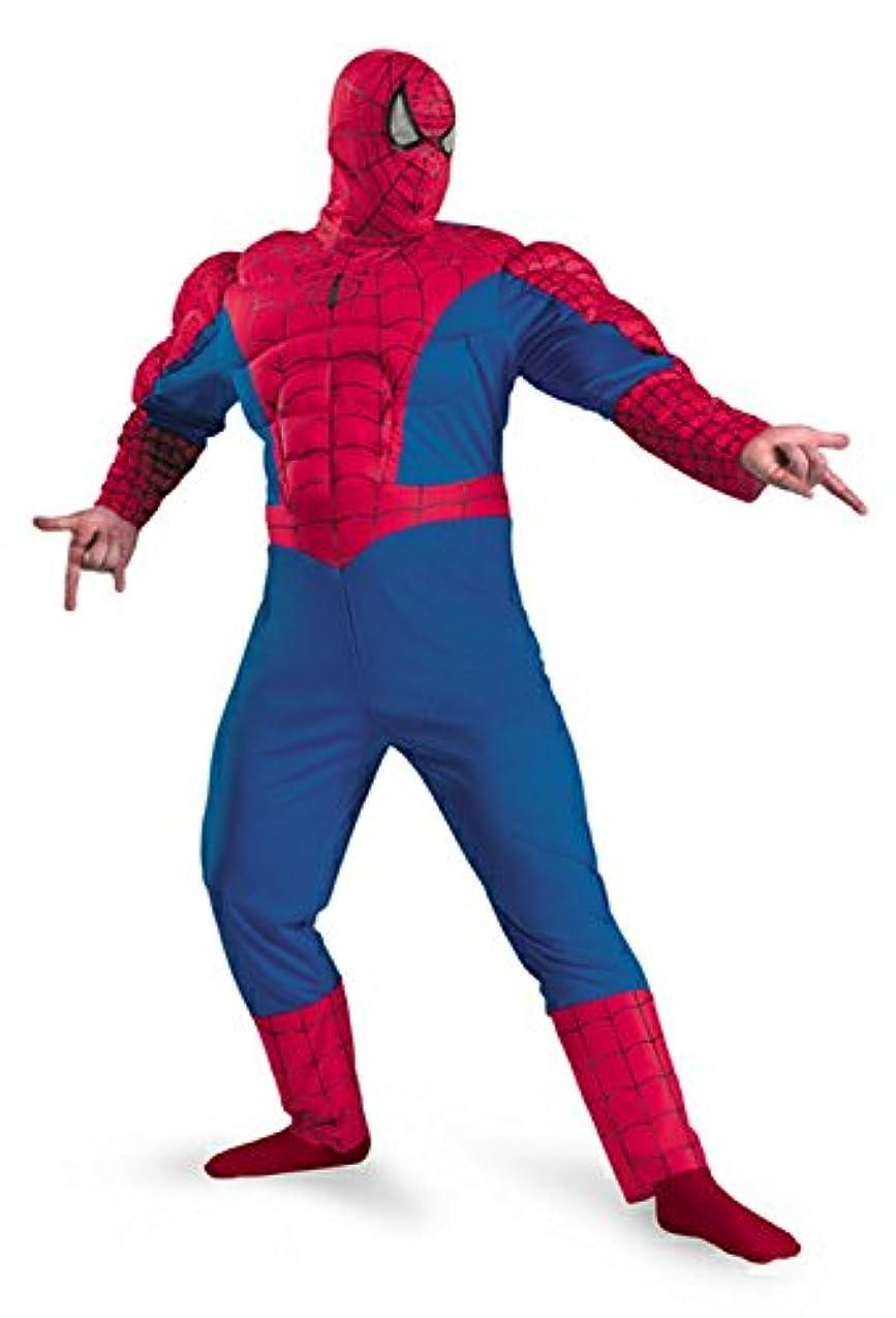 鳩ラボシネマSpider-Man Classic Muscle Adult Plus Costume スパイダーマンクラシックマッスル大人用プラスコスチューム?ハロウィン?サイズ:XX-Large (50-52)
