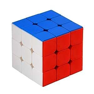 Newislandスピードキューブ 立体パズル 3×3×3立体キューブ ポップ防止立体キューブ スムーズ回転キューブ 競技用パズルキューブ 世界標準配色 6面完成攻略書(LBL法)付属 57x57x57mm