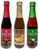 ベルギーフルーツビール リンデマンス醸造所 飲み比べセット 250ml×3本 『フランボワーズ』『ペシェリーゼ』『アップル』