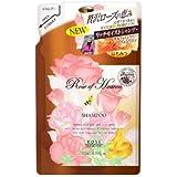 コーセー ローズオブヘブン シャンプー つめかえ 350mL ノンシリコン ダマスクローズの優雅な香り お得な詰替え用 ×12点セット (4971710384581)