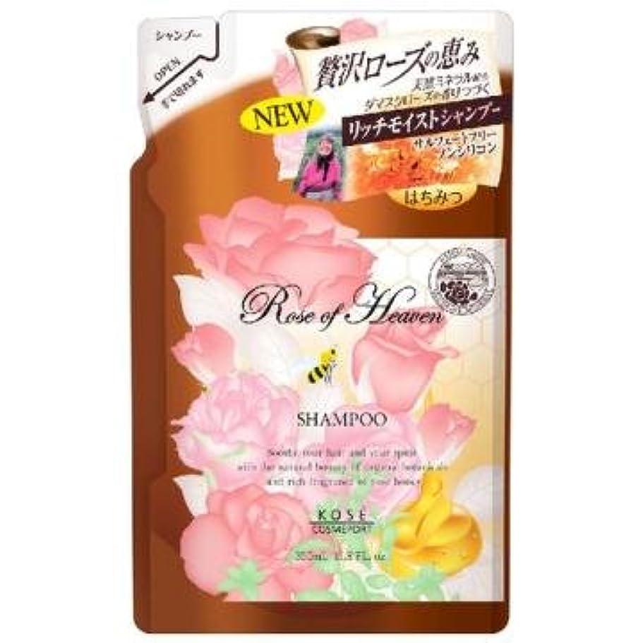 合計イサカ脚コーセー ローズオブヘブン シャンプー つめかえ 350mL ノンシリコン ダマスクローズの優雅な香り お得な詰替え用 ×12点セット (4971710384581)