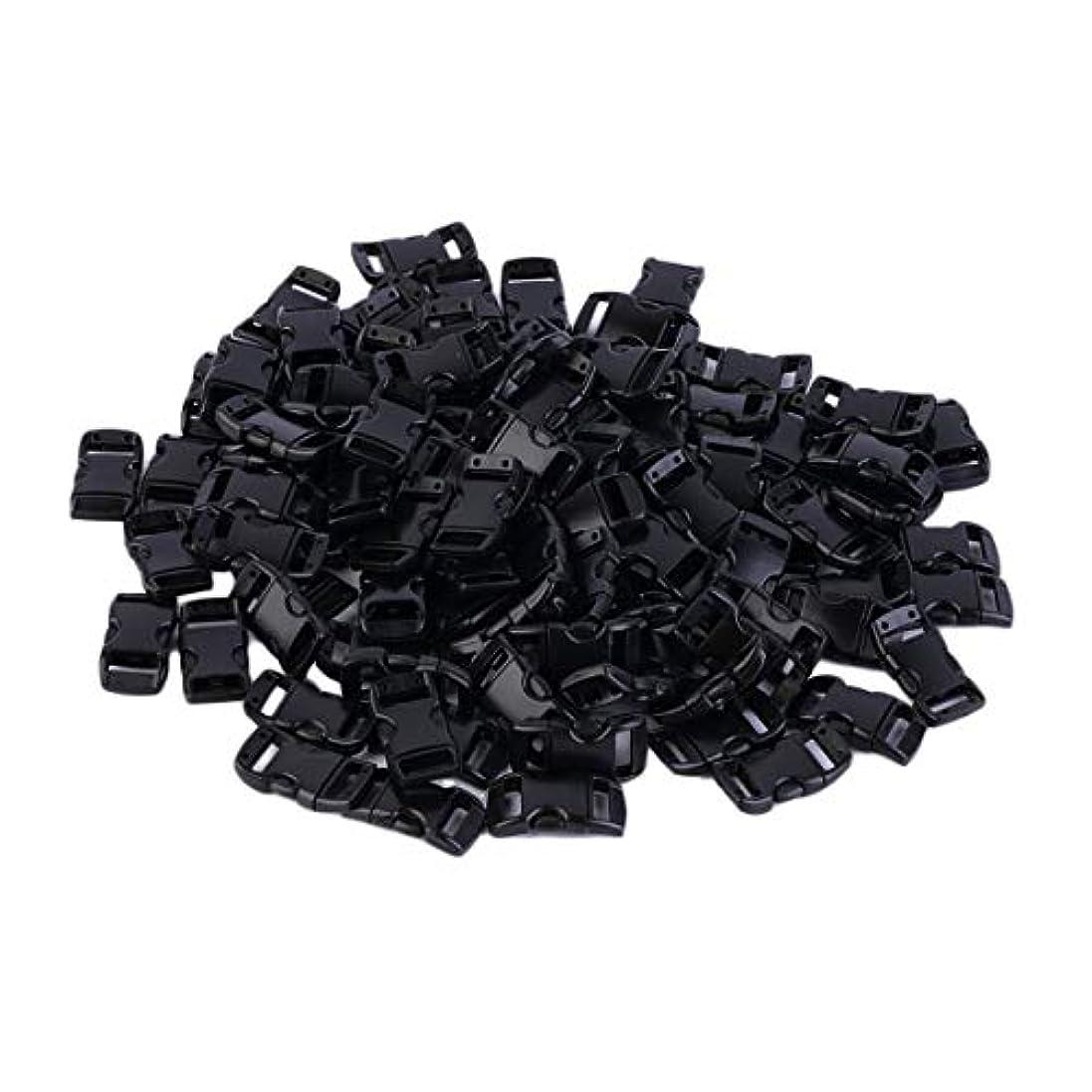 佐賀ファン教えてBlackfell プラスチック100個ウェビングスロット3/8インチ輪郭の湾曲したサイドリリースバックル用パラコードブレスレット約28 x 18 mm
