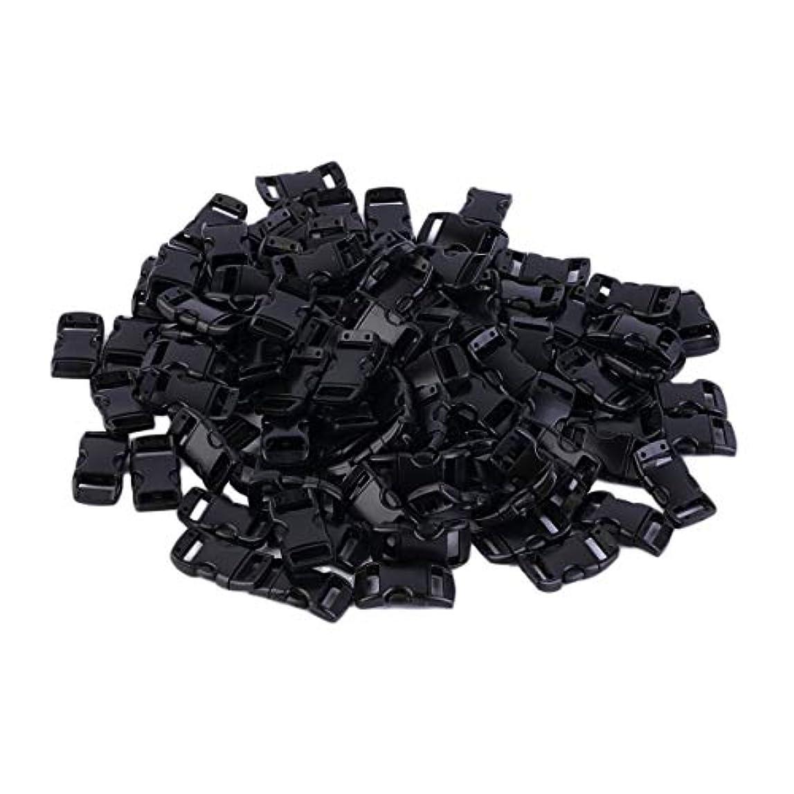 最大限故意に機関車Blackfell プラスチック100個ウェビングスロット3/8インチ輪郭の湾曲したサイドリリースバックル用パラコードブレスレット約28 x 18 mm