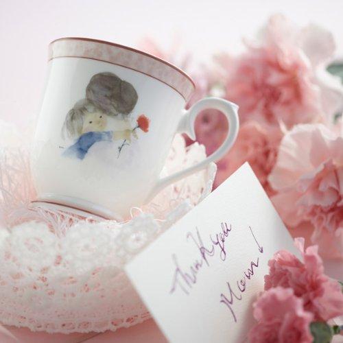 NARUMIいわさきちひろマグカップ(母の日)290ccボーンチャイナ50429-2635