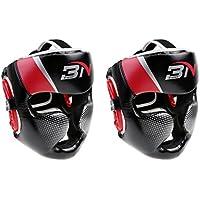 Jiliオンライン2ピース調節可能なボクシングヘッドガードヘルメットプロテクターMMAムエタイUFCキックボクシングFightingヘッドギア