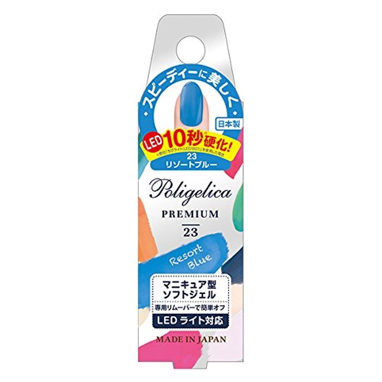 アニメーション民族主義野心BW ポリジェリカプレミアム カラージェル APGC 1023 リゾートブルー (6g)