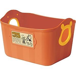 錦化成 収納バスケット くまのプーさん ミニやわらかバケツ SQ5AD ダークオレンジ
