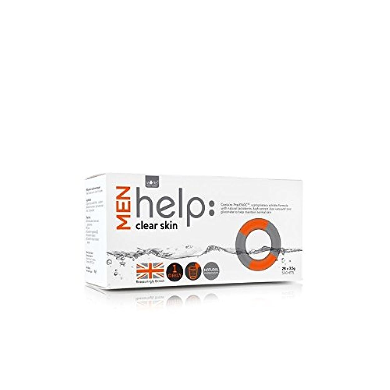 取り囲むリーフレットチートWorks With Water Men's Help: Clear Skin Soluble Supplement (28 X 3.5G) - クリアな肌可溶性サプリメント(28 3.5グラム):水男性の助けを借りて動作...