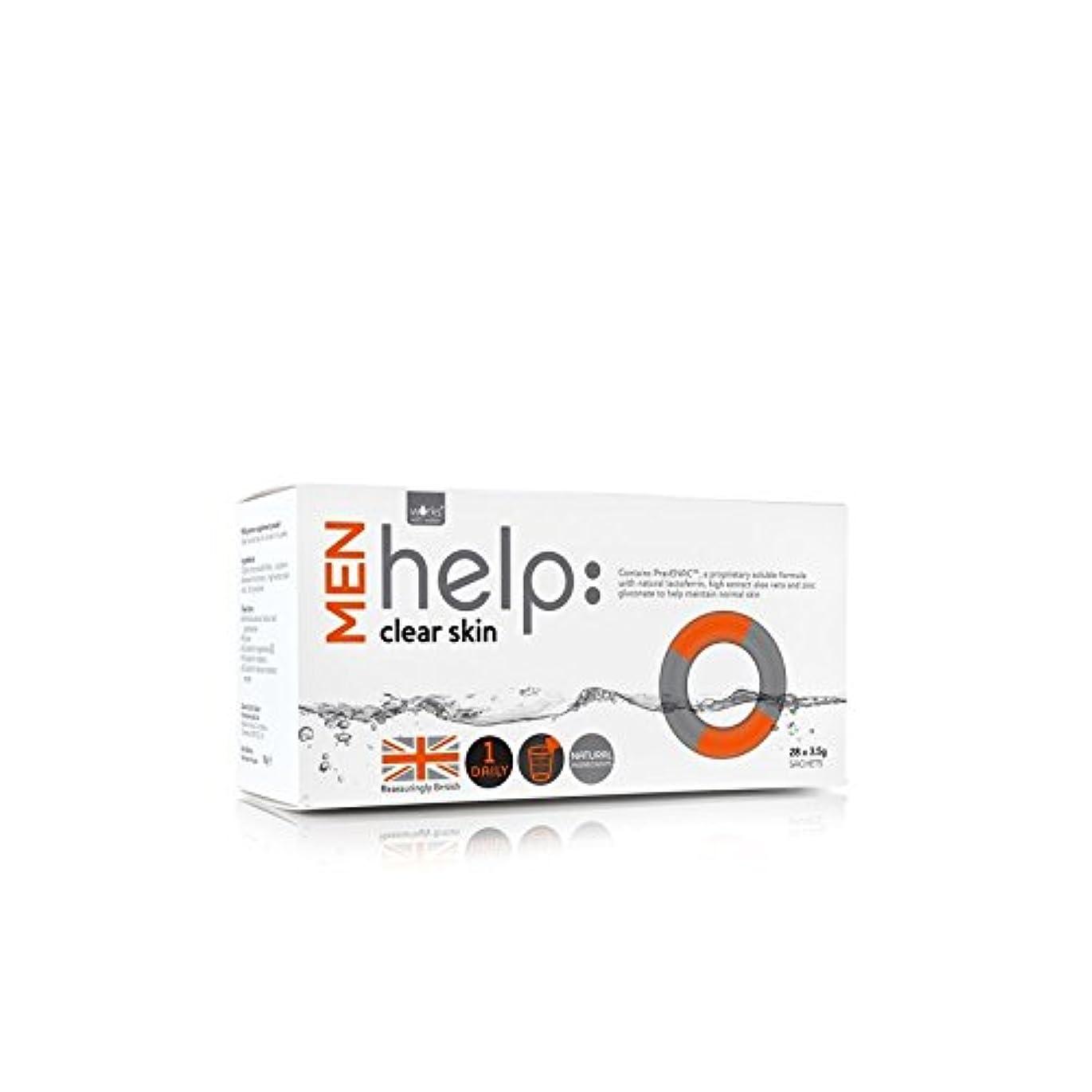 崇拝します効率的光沢Works With Water Men's Help: Clear Skin Soluble Supplement (28 X 3.5G) (Pack of 6) - クリアな肌可溶性サプリメント(28 3.5グラム)...