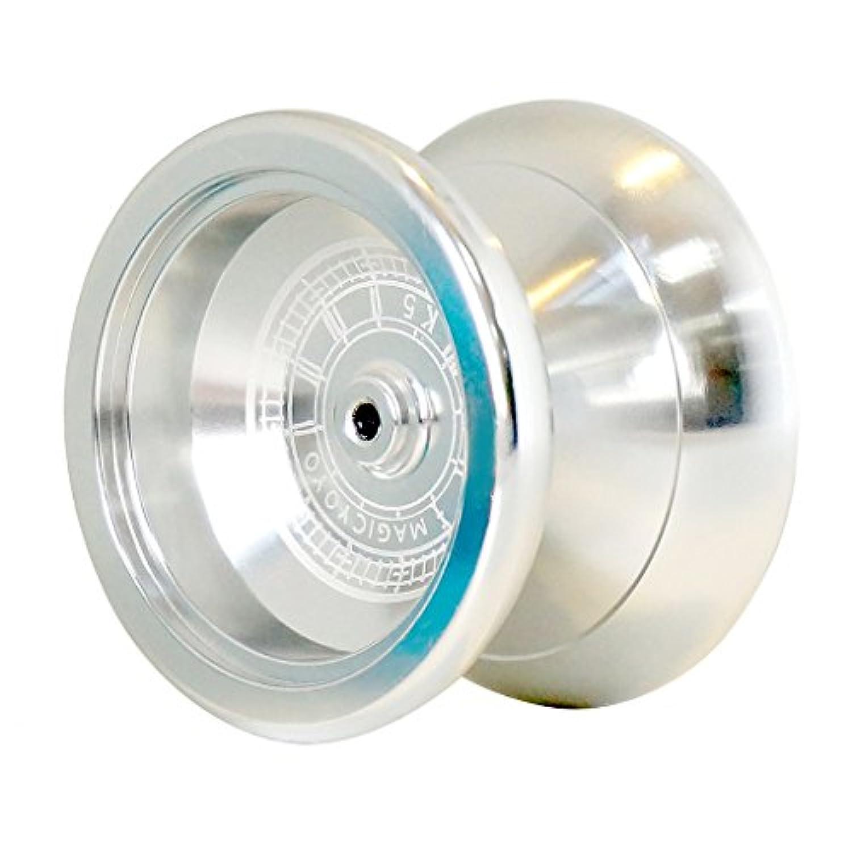 Blesiya 合金製 子ども 初心者 プロK5合金製 ヨーヨーボール ベアリング 玩具 ゲーム 3色選択 - 銀