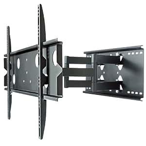 テレビ壁掛け金具 M 37-65v ロングアーム ブラック PLB-137MB
