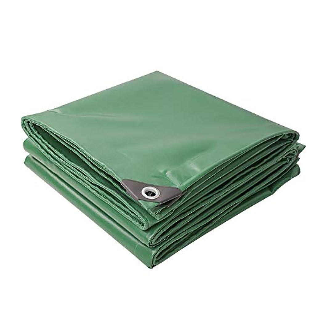 シーン半導体鷲防水シート防水 - シェード布 - 屋外の厚いターポリン、キャンバスターポリンPVCプラスチックコーティング布 - 日よけ防水日焼け止め防水シートオーニングクロス - 厚さ0.42 mm - カスタマイズ可能なサイズ (Color : Green, Size : 5mx5m)