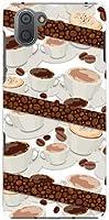 ガラスフィルム 付 アクオス アールスリー SH-04L SHV44 AQUOS R3 docomo au SoftBank TPU ソフトケース コーヒーとコーヒー豆 スマホケース スマホカバー デザインケース