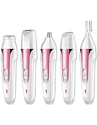 多機能シェーバー充電式女性脱毛器具電気ヘアスクレーパー洗浄眉毛ナイフ,Pink