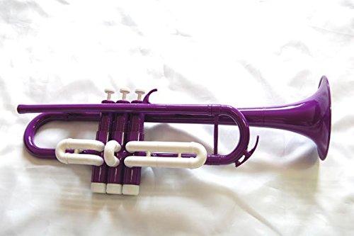 プラスチック トランペット ボディ紫×トリム白 [並行輸入品]