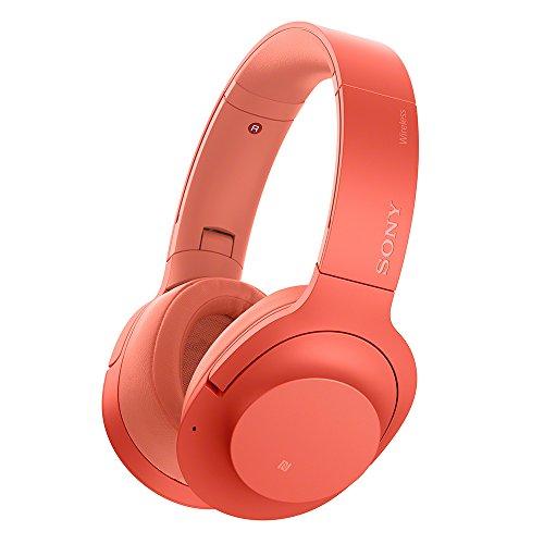 ソニー SONY ワイヤレスノイズキャンセリングヘッドホン h.ear on 2 Wireless NC WH-H900N : Bluetooth/ハイレゾ対応 最大28時間連続再生 密閉型 マイク付き 2017年モデル トワイライトレッド WH-H900N R