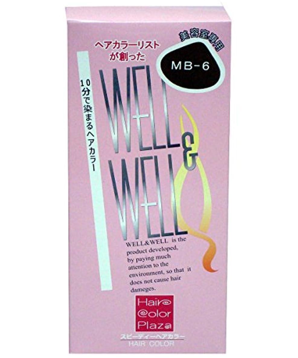 情緒的焼く救援ウェル&ウェルスピーディヘアカラー マロンブラウン[MB-6]