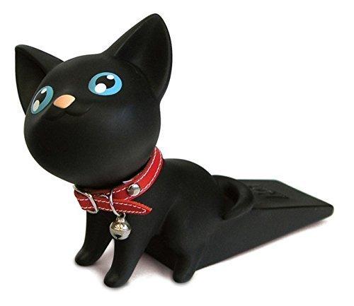 Kat猫 かわいい猫形状ドアストッパー (黒い)