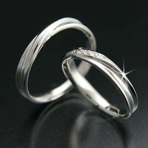 [ココカル]cococaru ペアリング シルバー リング Silver マリッジリング 結婚指輪 日本製 レディース ダイヤ付