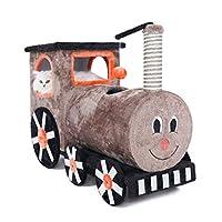 小さな列車の猫登山猫のトイレ猫の木1つのサイザルの爪大きな純木猫フレーム登山猫のおもちゃ (Color : 92cm*35cm*60cm)