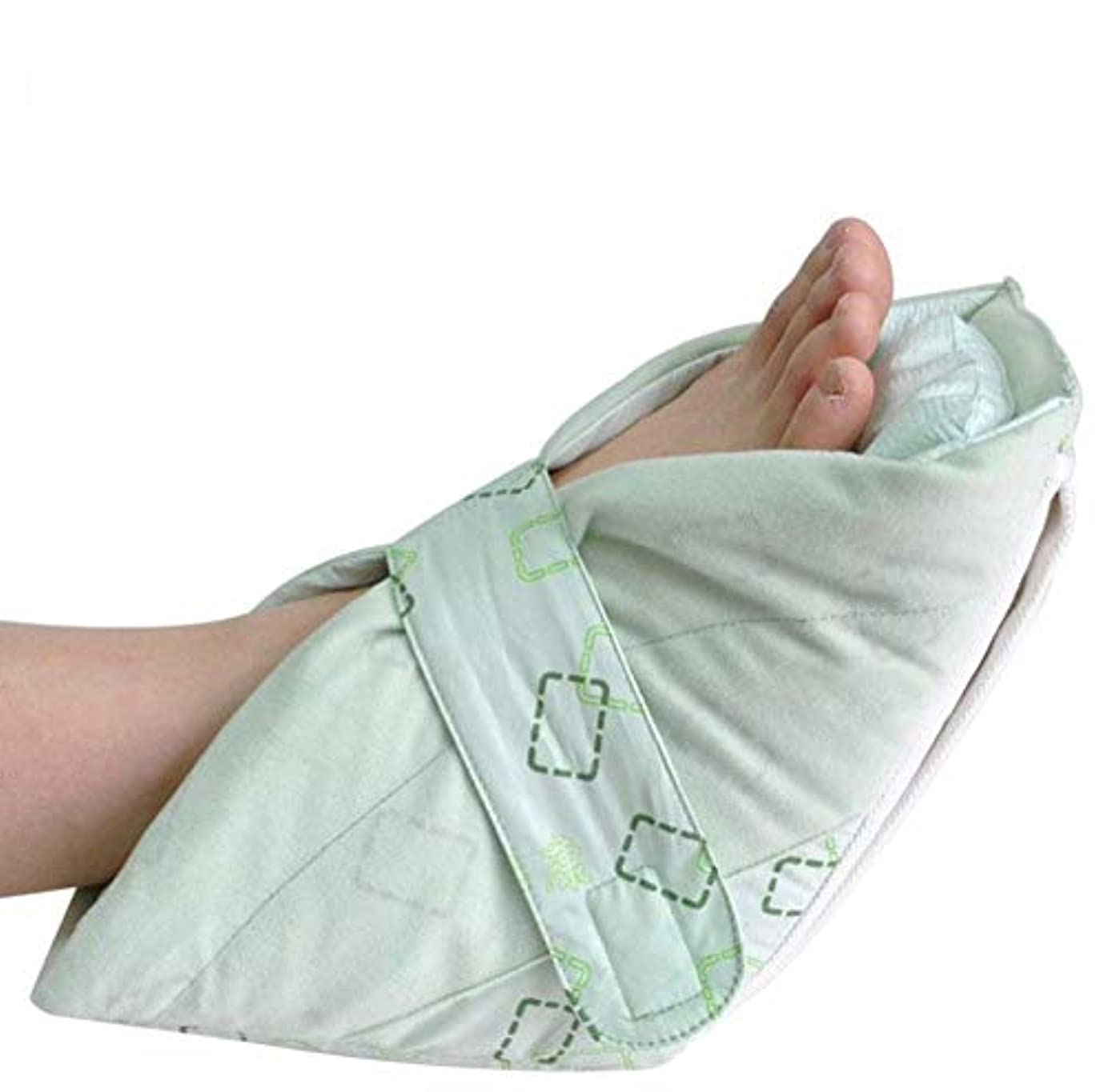 患者不信粉砕する圧力リリーフヒールプロテクターの 1 ペア、超上質なコットン生地個別インナークッションにきびやにきびのため腱ステント