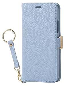 エレコム iPhone X ケース カバー 手帳型 レザー サイドマグネット ストラップ付き for Girl ブルー PM-A17XPLFJBU