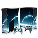 Linyuan 安定した品質 T2058* Skin Decal Wrap Sticker for Microsof XBOX360 SLIM Console+2 Controllers