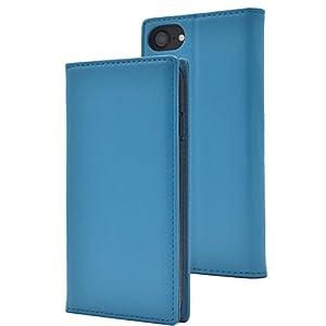 PLATA iPhone6 / iPhone6s / iPhone7 / iPhone8 ケース 手帳型 ラム シープスキン 羊革 本革 レザー カバー アイフォン 6 6s 7 8 【 ライトブルー 水色 みずいろ lightblue 】 IP7-8800LB