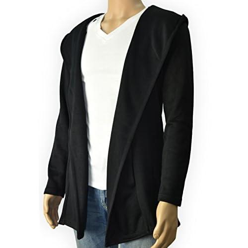 (リザウンド)ReSOUND カーディガン 黒色 XXL ロング丈 フードつき なが袖 薄め 生地 はるもの 綺麗め キレイめ ブルゾン ジャケット ゆったり カジュアル サマー セーター カーデガン tシャツ 秋物 あき物 40代 黒 2XL 360