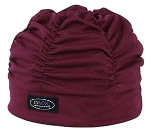 FOOTMARK(フットマーク) 水泳帽 スイミングキャップ ゆったりアクアキャップギャザー 508001 エンジ(11)