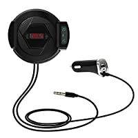 Chaufly FMトランスミッタ カーオーディオ 車載 MP3 プレーヤー カーラジオプレーヤー BluetoothV4.0+EDR 対応 ワイヤレス式 高音質 ハンズフリー通話 周波数仕様87.5-108.0MHz 12V車用