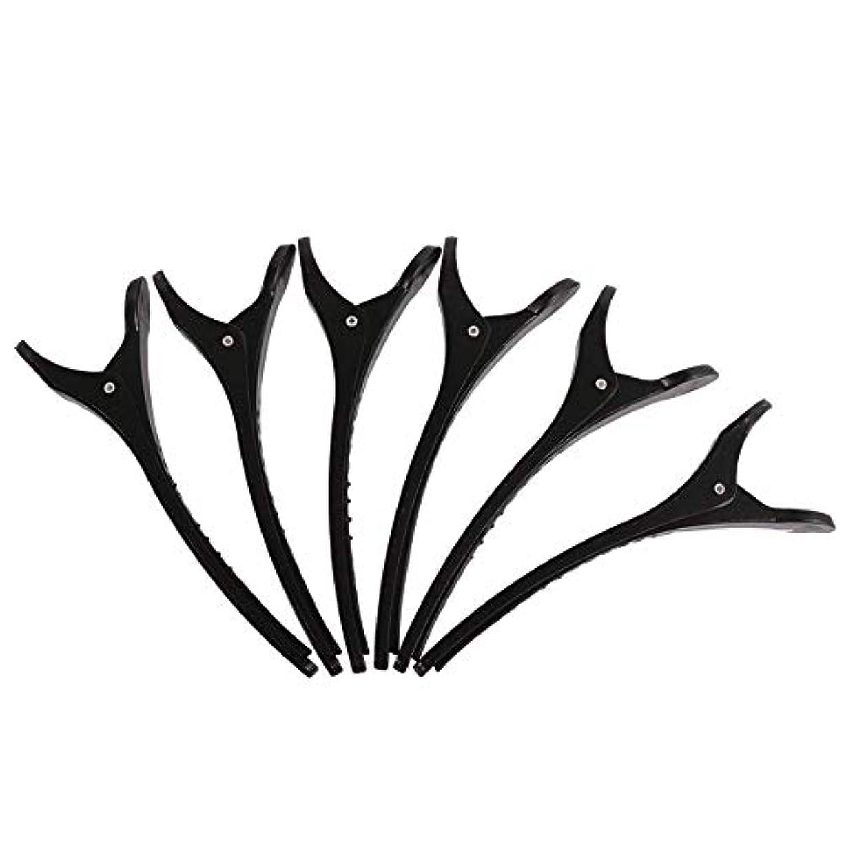 スローモードリンシェトランド諸島専門のプラスチック製のヘアクリップ6本の歯アヒルの弓のヘアピン多機能プライヤーは、女性、子供や赤ちゃんDIYヘアアクセサリーフォークワニのためにスリップ