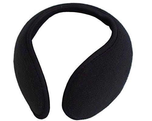 TPOS イヤーマフ 耳あて 耳カバー シンプル コンパクトなイヤウォーマー チェック柄 6色 (黒)