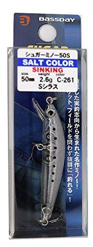 【2%OFF】Bassday(バスデイ)ミノーシュガーミノー50Sソルト50mm2.6gSシラスC-261ルアー