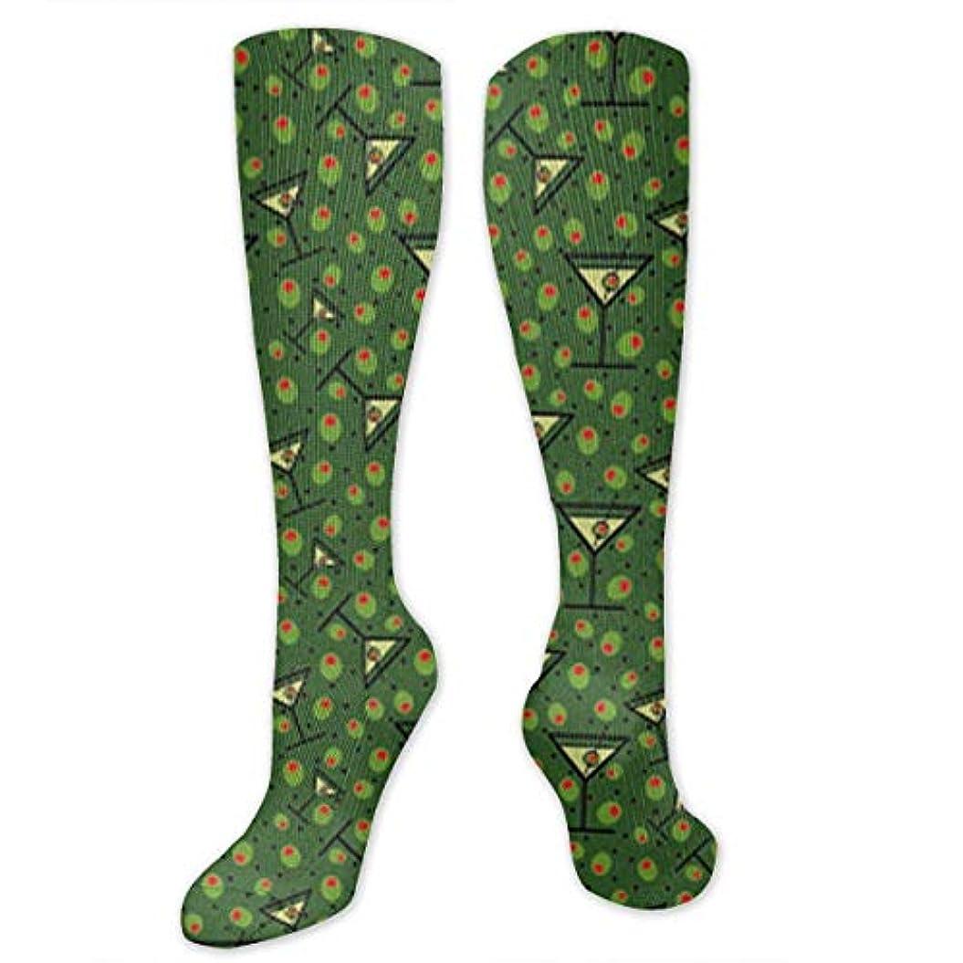 教育する乳白色効果的に靴下,ストッキング,野生のジョーカー,実際,秋の本質,冬必須,サマーウェア&RBXAA Martinis Olives Pattern Socks Women's Winter Cotton Long Tube Socks...