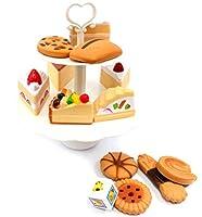 アンパサンドShops Cookie and Desserts Tower Playset Pretend Play Toyset