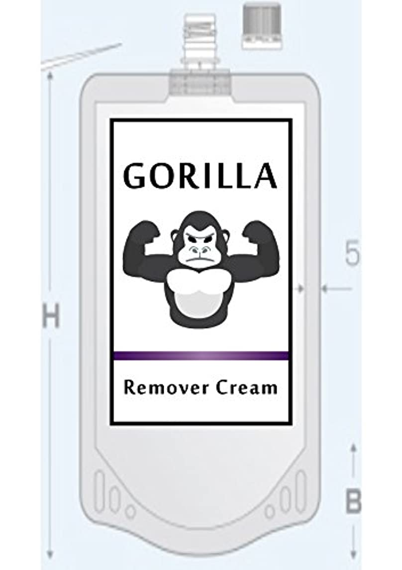 放射する対応後ろ、背後、背面(部GORILLA Remover CReam ゴリラ 除毛 リムーバー クリーム 200g メンズ Vライン ボディ用 【医薬部外品】