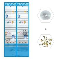 自己シール 画面のドア, 暗号化 大型メッシュ カーテン 蚊ドア純 バルコニー引き戸リビング子供部屋-M 120x220cm(47x87inch)