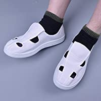QGT Shoes Casual Breathable Four Holes Canvas Dust-Free Anti-Static PVC Sole Shoes (Color : White, Size : 38)
